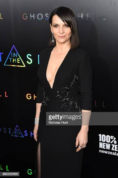 Juliette Binoche attends the 'Ghost In The Shell' premiere hosted by Paramount Pictures DreamWorks Pictures at AMC Lincoln Square Theater on March 29...