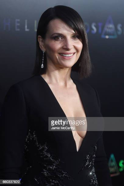 Juliette Binoche attends the Ghost In The Shell premiere hosted by Paramount Pictures DreamWorks Pictures at AMC Lincoln Square Theater on March 29...