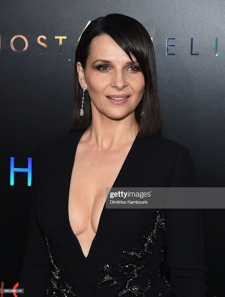 Juliette Binoche attends the 'Ghost In The Shell' premiere hosted by Paramount Pictures & DreamWorks Pictures at AMC Lincoln Square Theater on March 29, 2017 in New York City.