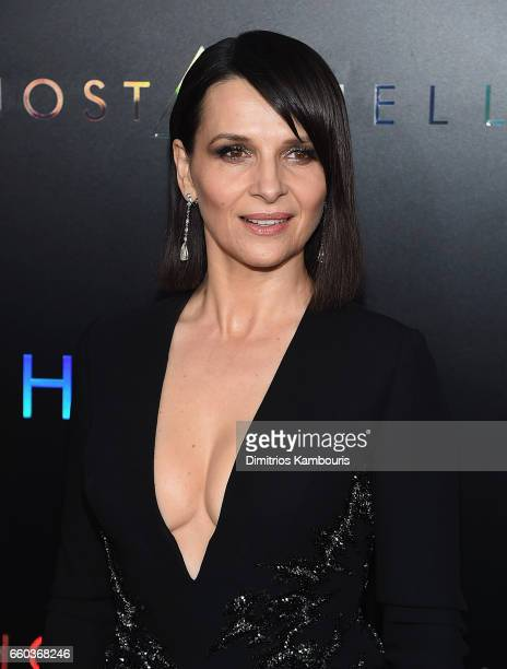 Juliette Binoche attends the 'Ghost In The Shell' premiere hosted by Paramount Pictures & DreamWorks Pictures at AMC Lincoln Square Theater on March...