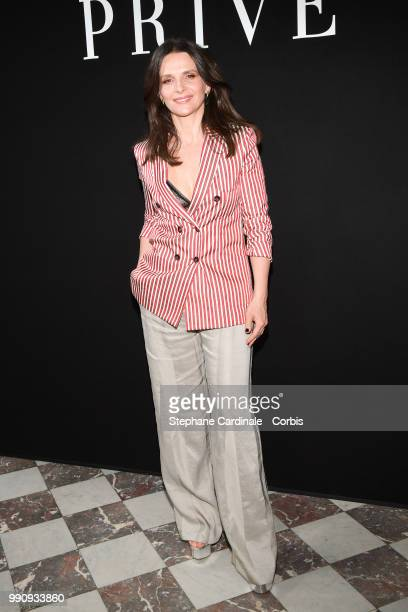 Juliette Binoche attends the Giorgio Armani Prive Haute Couture Fall/Winter 20182019 show as part of Haute Couture Paris Fashion Week on July 3 2018...