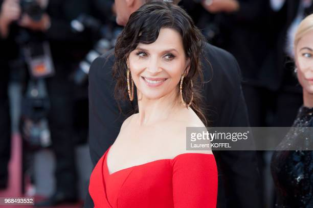 Juliette Binoche attends 'The Killing Of A Sacred Deer' screening during the 70th annual Cannes Film Festival at Palais des Festivals on May 22 2017...