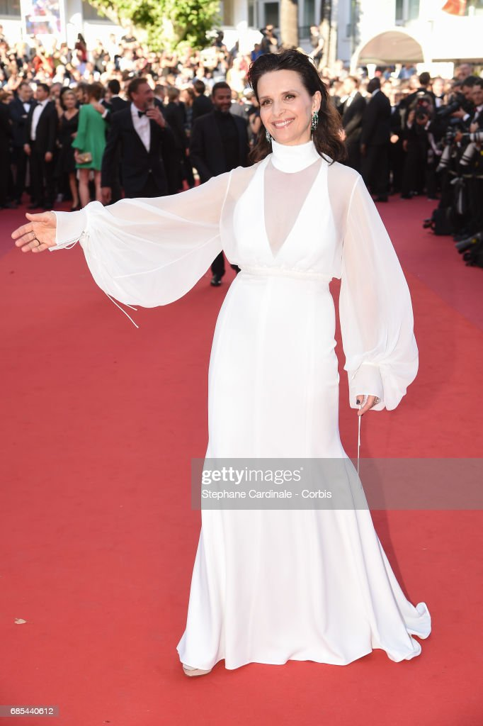Juliette Binoche attends the 'Okja' premiere during the 70th annual Cannes Film Festival at Palais des Festivals on May 19, 2017 in Cannes, France.