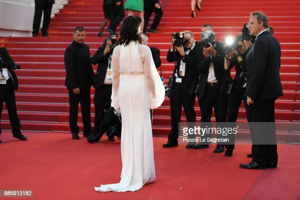 Juliette Binoche attends the Okja screening during the 70th annual Cannes Film Festival at Palais des Festivals on May 19 2017 in Cannes France