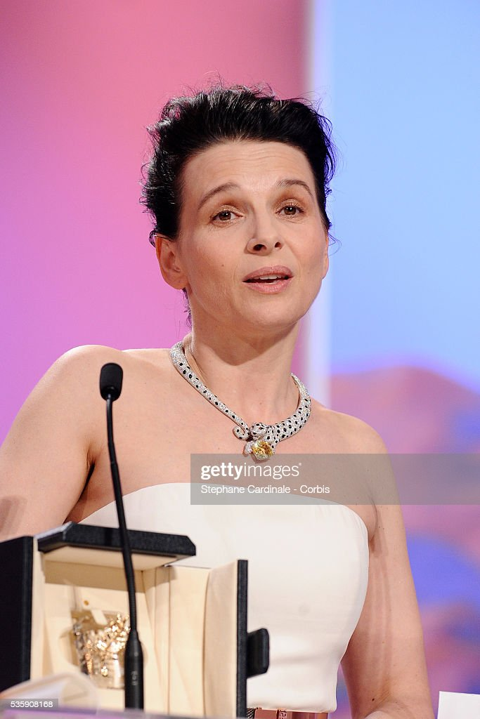 Juliette Binoche attends the 'Palme d'Or Award Ceremony' of the 63rd Cannes International Film Festival