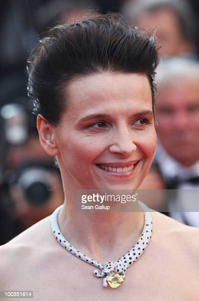 Juliette Binoche attends the Palme d'Or Award Closing Ceremony held at the Palais des Festivals during the 63rd Annual Cannes Film Festival on May 23...