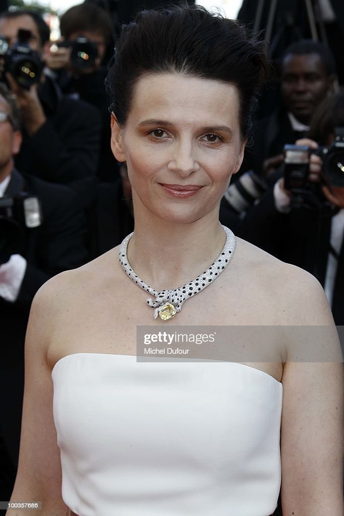 Juliette Binoche attends the Palme d'Or Award Closing Ceremony held at the Palais des Festivals during the 63rd Annual Cannes Film Festival on May 23, 2010 in Cannes, France.