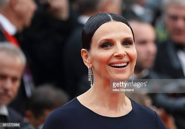 Juliette Binoche attends the screening of 'Slack Bay ' at the annual 69th Cannes Film Festival at Palais des Festivals on May 13, 2016 in Cannes,...