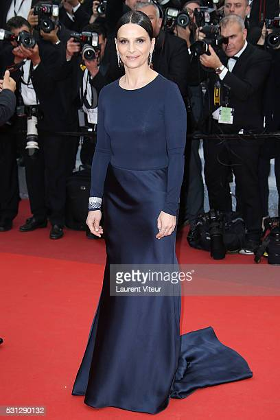 Juliette Binoche attends the 'Slack Bay ' premiere during the 69th annual Cannes Film Festival at the Palais des Festivals on May 13 2016 in Cannes
