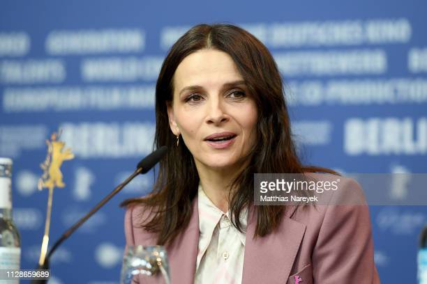 "Juliette Binoche attends the ""Who You Think I Am"" press conference during the 69th Berlinale International Film Festival Berlin at Grand Hyatt Hotel..."