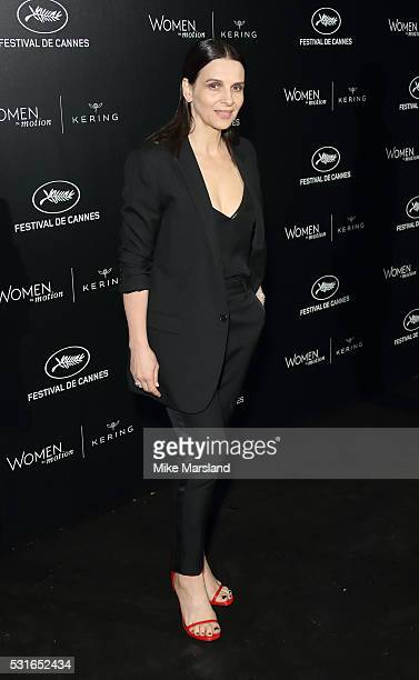 Juliette Binoche attends the 'Women in Motion' Prize Reception part of The 69th Annual Cannes Film Festival on May 15 2016 in Cannes France