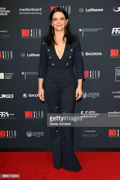 Juliette Binoche during the 30th European Film Awards 2017 at 'Haus der Berliner Festspiele' on December 9 2017 in Berlin Germany