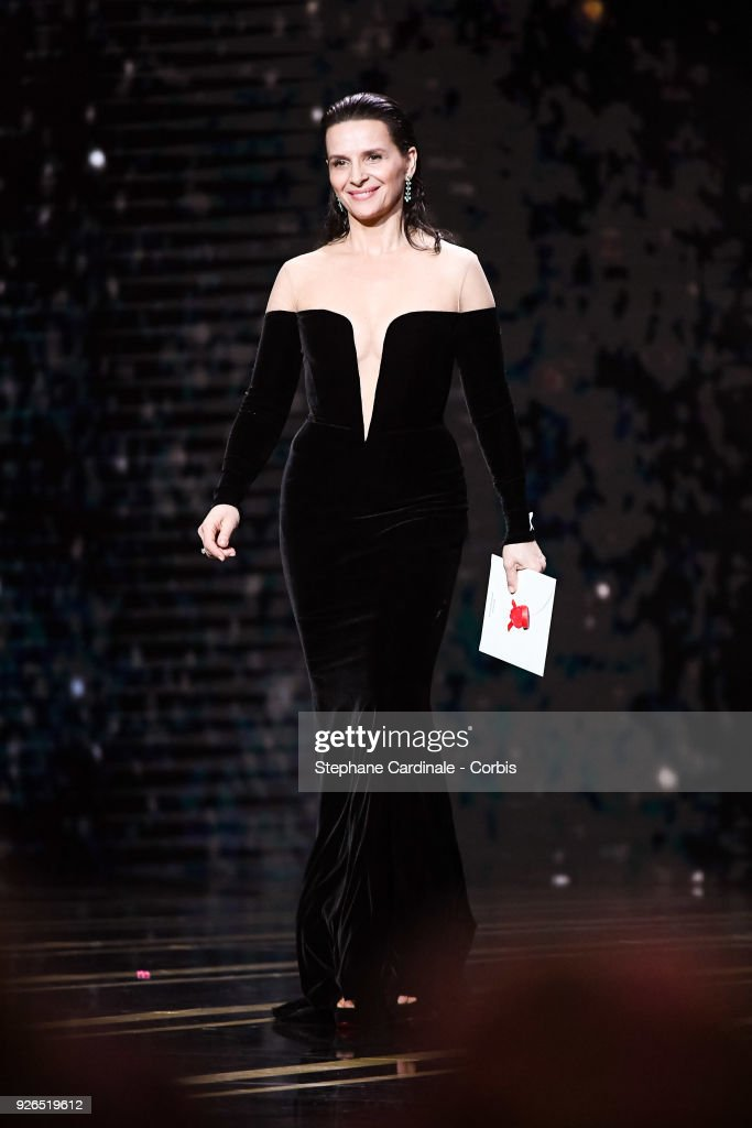 Juliette Binoche during the ceremony of the Cesar Film Awards 2018 at Salle Pleyel on March 2, 2018 in Paris, France.