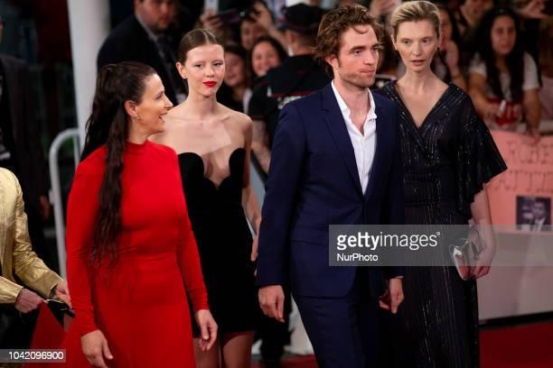 Juliette Binoche Mia Goth Robert Pattinson Agata Buzek attends the 'High Life' premiere during the 66th San Sebastian International Film Festival on...
