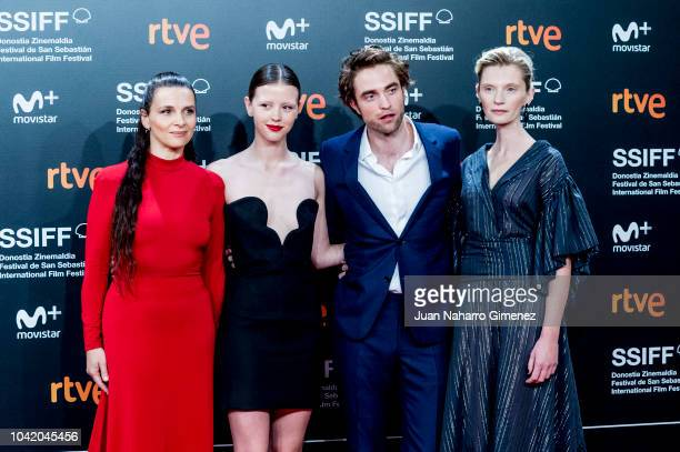 Juliette Binoche Mia Goth Robert Pattinson and Agata Buzek attend the 'High Life' premiere during the 66th San Sebastian International Film Festival...