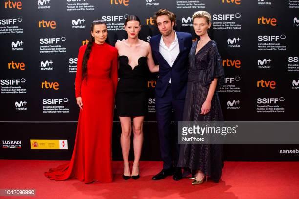 Juliette Binoche Mia Goth Robert Pattinson and Agata Buzek attends the 'High Life' premiere during the 66th San Sebastian International Film Festival...