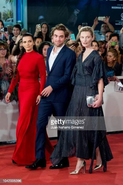 Juliette Binoche Robert Pattinson and Agata Buzek attend the 'High Life' premiere during the 66th San Sebastian International Film Festival on...