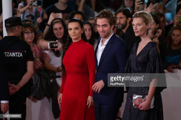 Juliette Binoche Robert Pattinson and Agata Buzek attends the 'High Life' premiere during the 66th San Sebastian International Film Festival on...