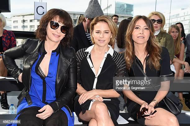 Juliette Binoche Suzanne Clement and Keren Ann attend the Maxime Simoens show as part of the Paris Fashion Week Womenswear Spring/Summer 2015 on...