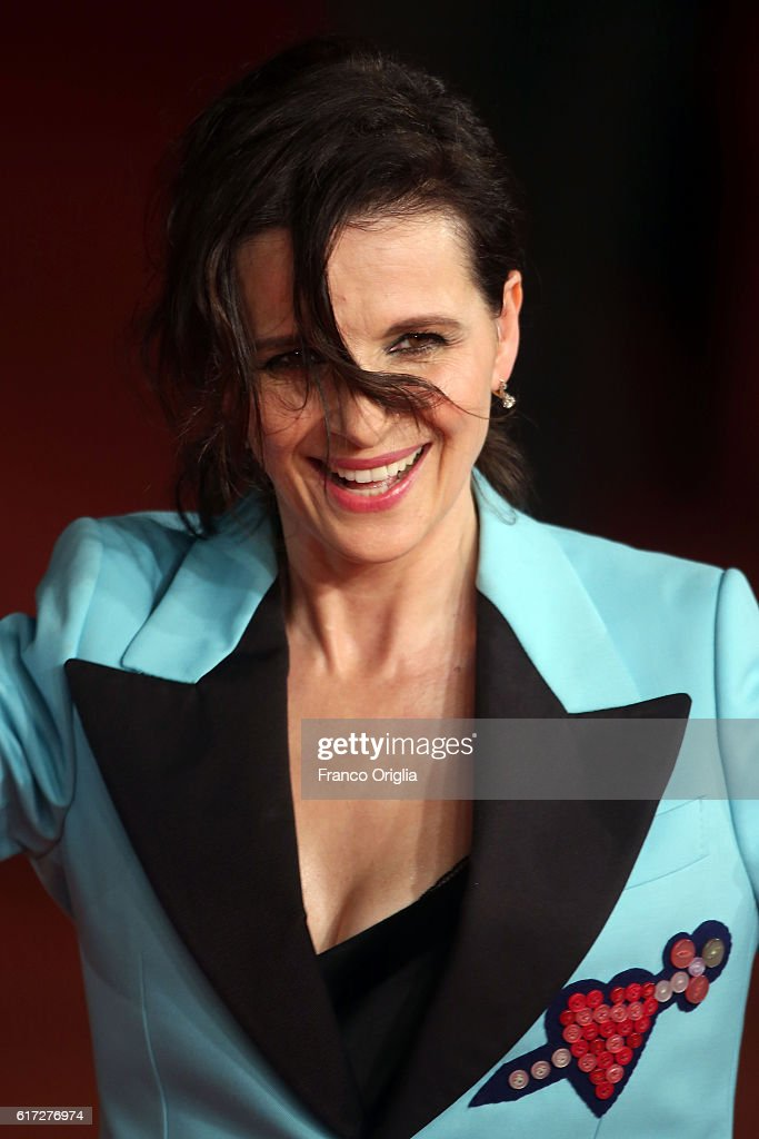 Juliette Binoche walks a red carpet for 'The English Patient - Il Paziente Inglese' during the 11th Rome Film Festival at Auditorium Parco Della Musica on October 22, 2016 in Rome, Italy.