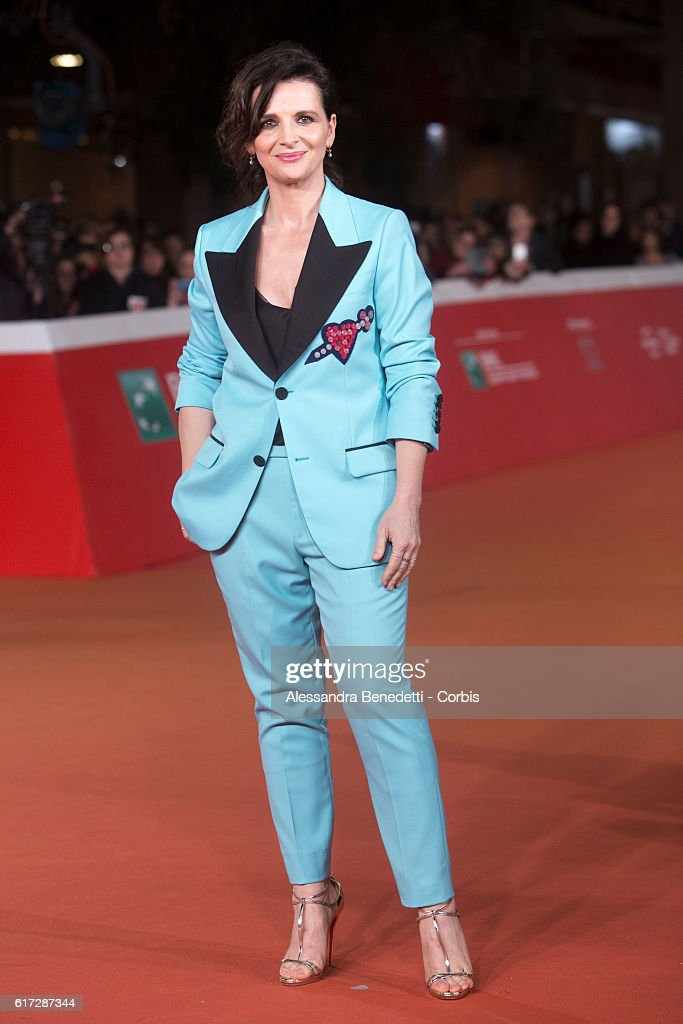 Juliette Binoche walks a red carpet for 'The English Patient - Il Paziente Inglese' during the 11th Rome Film Festival on October 22, 2016 in Rome, Italy.