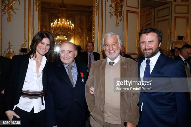 Juliette Brasseur Claude Brasseur JeanPaul Belmondo and Alexandre Brasseur attend Claude Brasseur is elevated to the rank of Officier de la Legion...