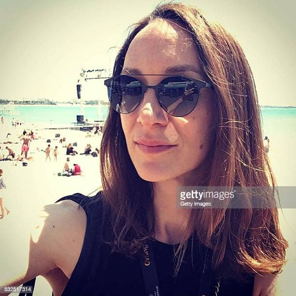 Juliette Chauvin wearing Carrera sunglasses during the 69th annual Cannes Film Festival at the Palais des Festivals on May 18 2016 in Cannes France