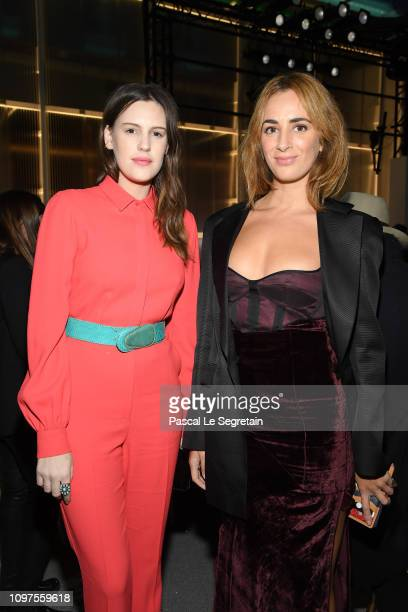 Juliette Dol and Alexia Niedzelski attend the Giambattista Valli Haute Couture Spring Summer 2019 show as part of Paris Fashion Week on January 21...