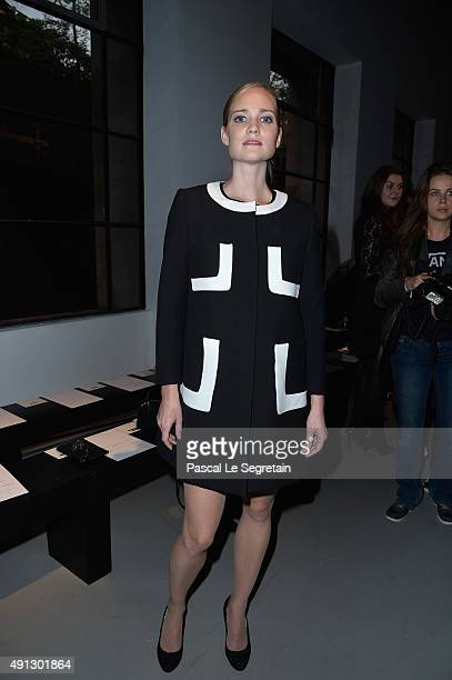 Juliette Gernez attends the John Galliano show as part of the Paris Fashion Week Womenswear Spring/Summer 2016 on October 4 2015 in Paris France
