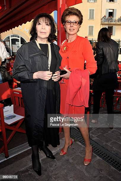 Juliette Greco and MarieLouise de Clermont Tonnerre attend the Chanel Cruise Collection Presentation on May 11 2010 in SaintTropez France