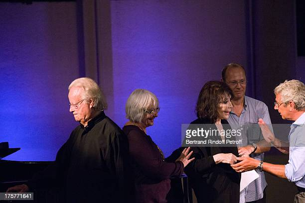 Juliette Greco her husband pianist Gerard Jouannest her daughter Laurence the Doctor of Festival and Artistic Director of the Festival Michel...
