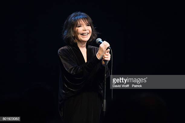 Juliette Greco performs at La Cigale on December 18 2015 in Paris France