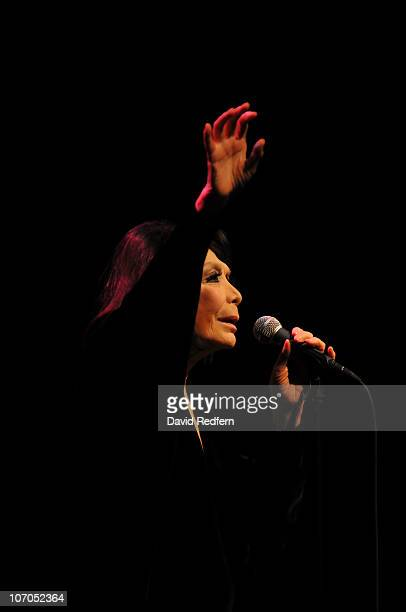 Juliette Greco performs on stage at The Royal Festival Hall during the London Jazz Festival on November 20 2010 in London England
