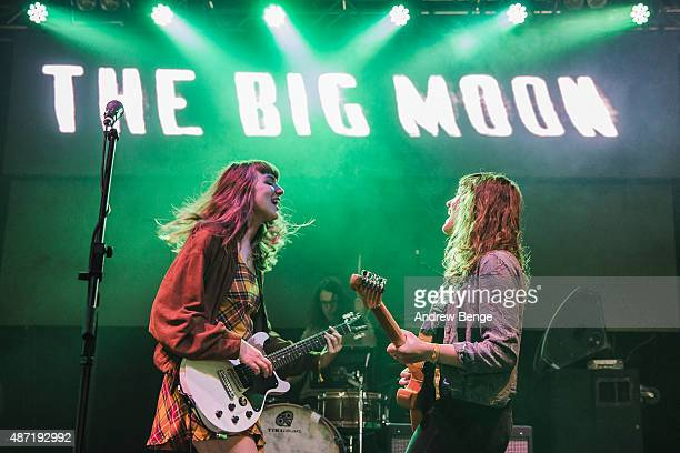 Juliette Jackson and Soph Nathan of The Big Moon performs on the i stage during day 4 of Festival No 6 on September 6, 2015 in Portmeirion, Wales.