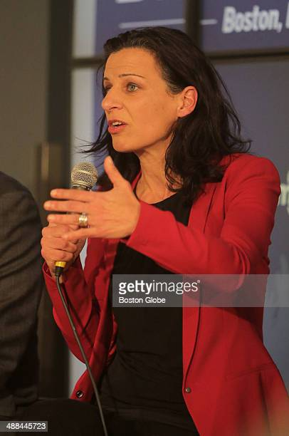 Juliette Kayyem faced off with the other Massachusetts gubernatorial candidates in a debate at The Boston Globe on February 5 2014