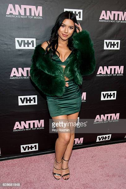 Juliette Kelly Smith attends VH1's 'America's Next Top Model' Premiere at Vandal on December 8 2016 in New York City