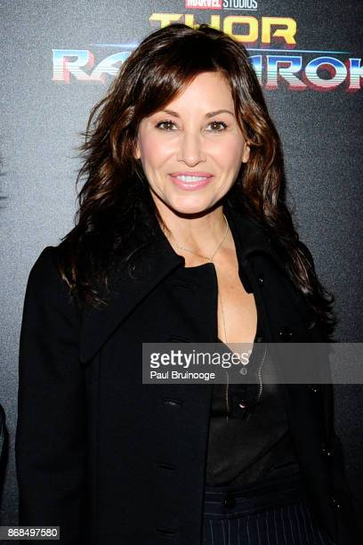 Juliette Kessler and Gina Gershon attend The Cinema Society with FIJI Water Men's Journal and Synchrony host a screening of Marvel Studios' Thor...