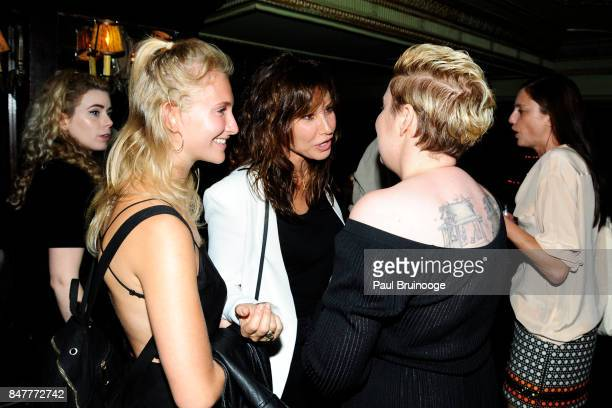 Juliette Kessler Gina Gershon and Lena Dunham attend the Party for the 2nd Anniversary of Lenny at The Jane Hotel on September 15 2017 in New York...