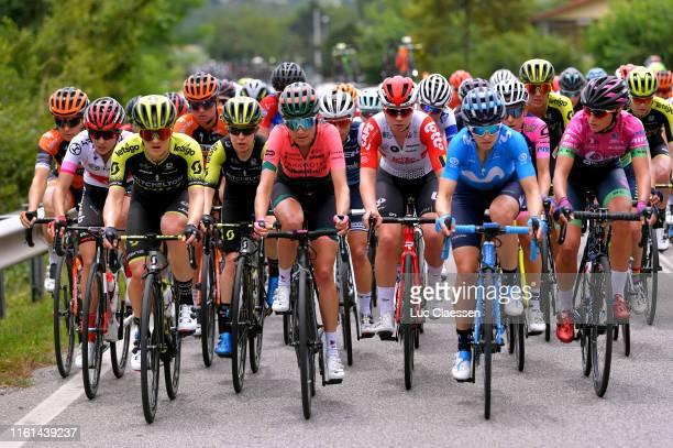 Juliette Labous of France and Team Sunweb White Best Young Jersey / Grace Brown of Australia and Team Mitchelton Scott / Amanda Spratt of Australia...