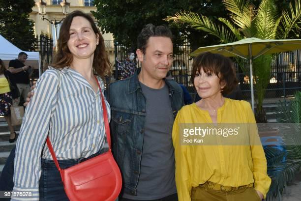 Juliette Levy Patrick Mille and Daniele Evenou attend Fete des Tuileries on June 22 2018 in Paris France