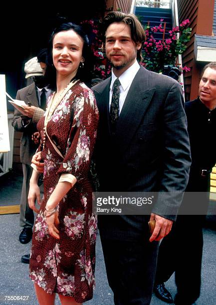 Juliette Lewis and Brad Pitt at the Raleigh Studios in Hollywood California