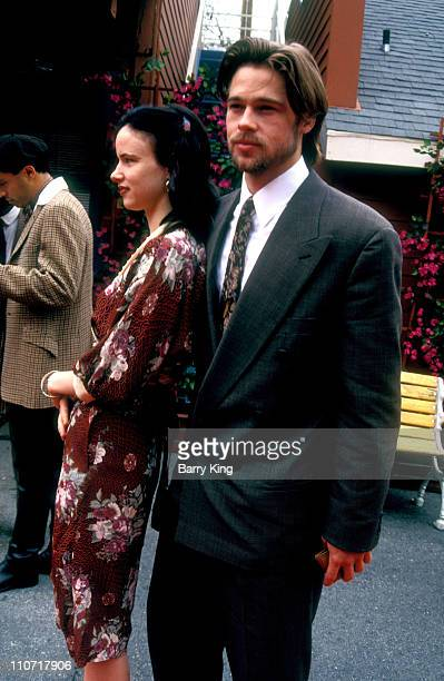 Juliette Lewis and Brad Pitt during The 7th Annual IFP/West Independent Spirit Awards at Raleigh Studios in Hollywood California United States