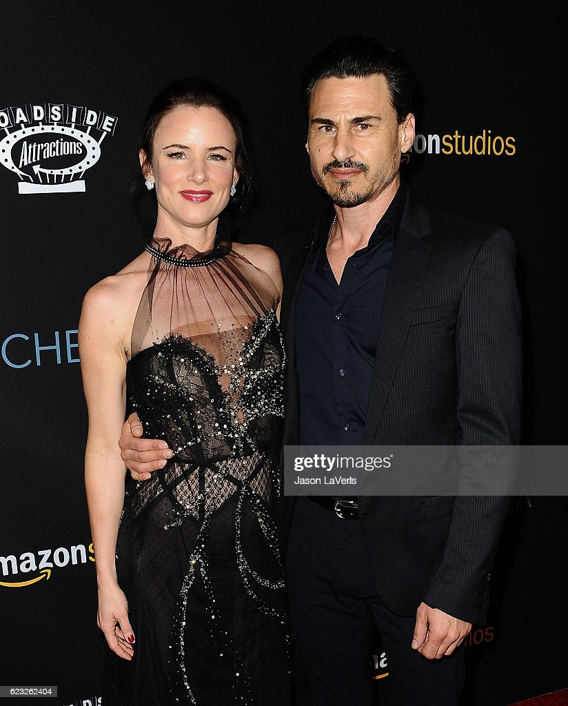 Juliette Lewis and Brad Wilk attend the premiere of 'Manchester by the Sea' at Samuel Goldwyn Theater on November 14, 2016 in Beverly Hills, California.