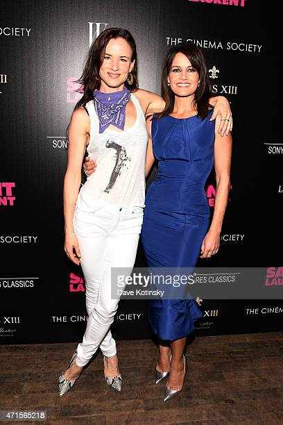 Juliette Lewis and Carla Gugino attend Sony Pictures Classics' screening of Saint Laurent hosted by The Cinema Society with Louis XII Cognac and W...