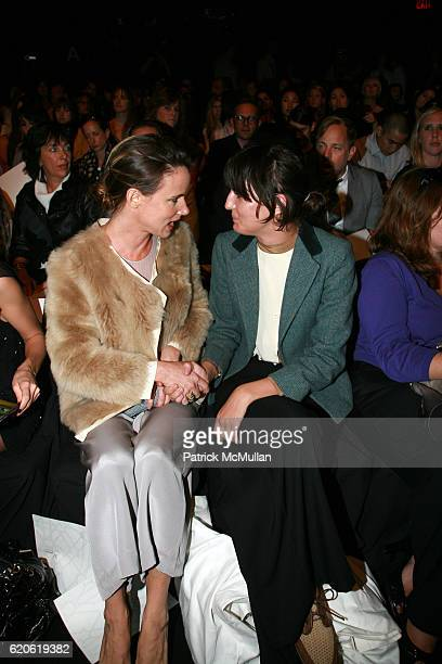 Juliette Lewis and Irina Lazareanu attend PHILLIP LIM Spring 2008 Fashion Show at Bryant Park Tents on September 10 2008 in New York City
