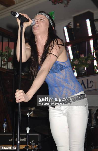 Juliette Lewis and the Licks perform during the Red Bull X Fighters Rock Flight excursion to Madrid