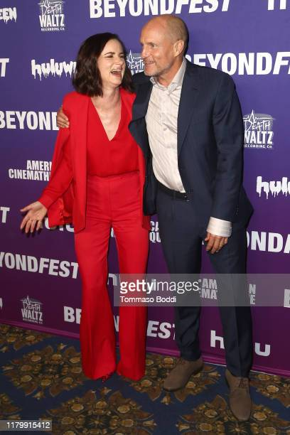 """Juliette Lewis and Woody Harrelson attend the 2019 Beyond Fest 25th anniversary screening of """"Natural Born Killers"""" at the Egyptian Theatre on..."""