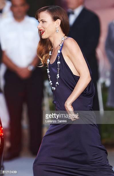 Juliette Lewis arrives at amfAR's Cinema Against AIDS 2008 benefit held at Le Moulin de Mougins during the 61st International Cannes Film Festival on...