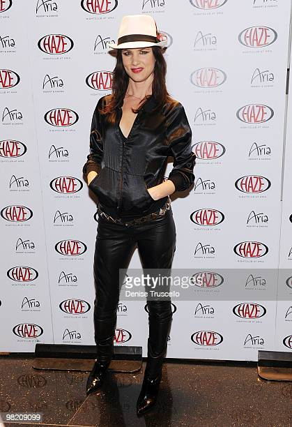 Juliette Lewis arrives at Haze Nightclub at CityCenter on April 1 2010 in Las Vegas Nevada