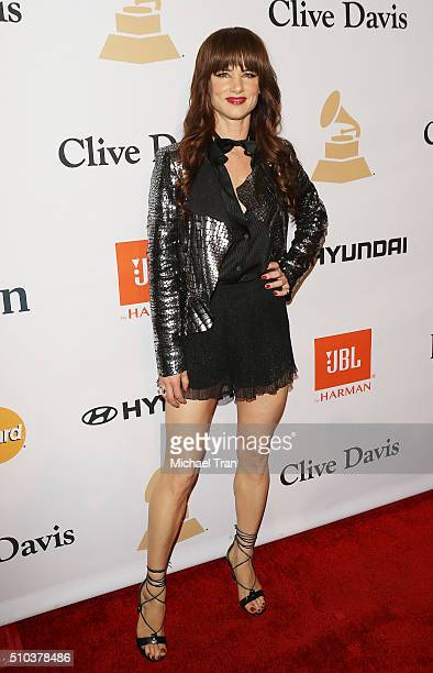 Juliette Lewis arrives at the 2016 PreGRAMMY Gala and Salute to Industry Icons honoring Irving Azoff held at The Beverly Hilton Hotel on February 14...